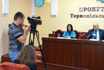 Відбулася прес-конференція прокурора Тернопільської області Юрія Гулкевича