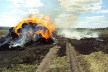 Шумський район: вогнеборці ліквідували пожежу тюків соломи