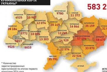 Озвучені найбільш криміногенні регіони України (мапа)