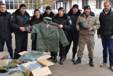Теплий одяг для правоохоронців, які знаходяться в зоні АТО, передали волонтери громадської організації Тернополя