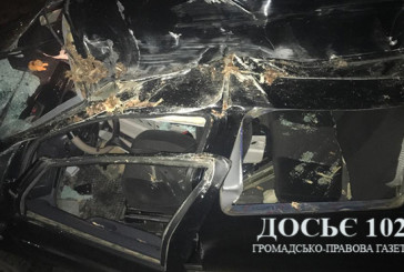На Кременеччині іномарка врізалася в причіп КамАзу