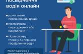 Заміна посвідчення водія онлайн