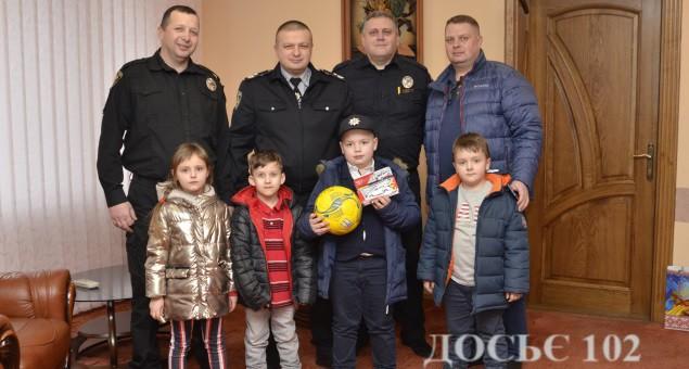 Тернопільського школярика привітав генерал поліції