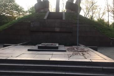 Тернопільські поліцейські притягнули до адмінвідповідальності місцевого жителя, який пошкодив пам'ятний монумент та фасад церкви