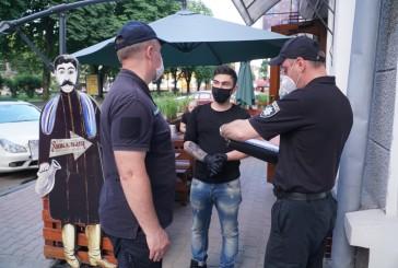 Поліцейські зафіксували порушення правил роботи під час карантину рестораном та розважальним закладом в Тернополі