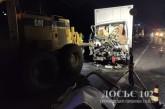 Вантажівка залишилася без салону в результаті удару з грейдером