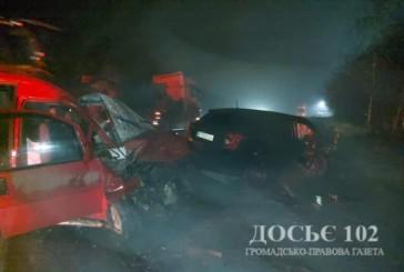 За три дні на дорогах області у ДТП травмувалося 7 людей, 1 чоловік загинув