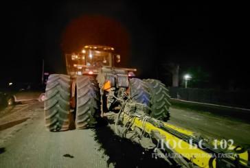 На дорозі не розминулися позашляховик та трактор
